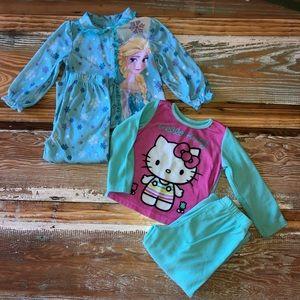 Toddler Girls Pajama Set Bundle